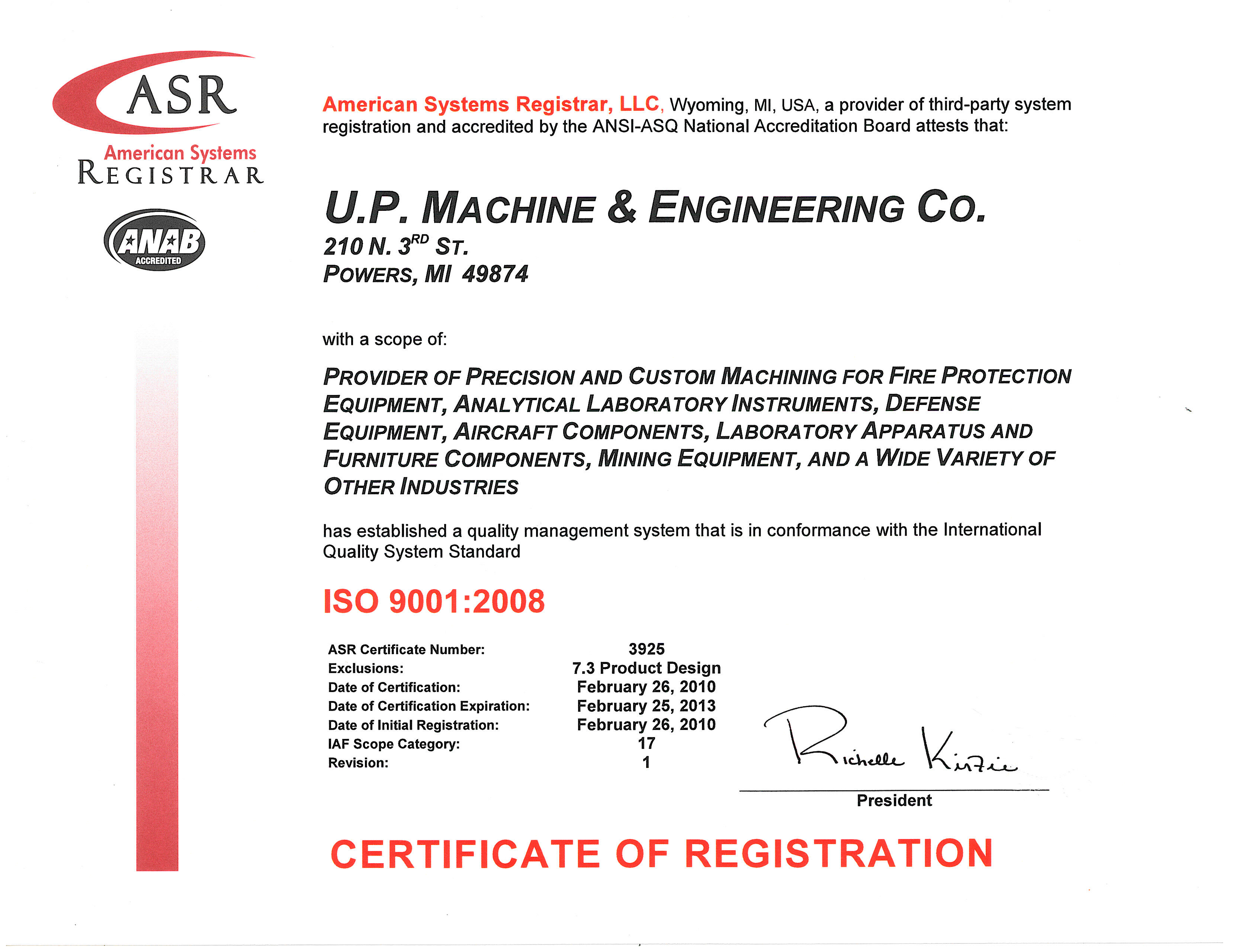 Qse up machine up machine certifications up machine is iso 90012008 certified xflitez Choice Image